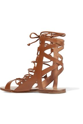 SIGERSON MORRISON Bunny lace-up leather sandals