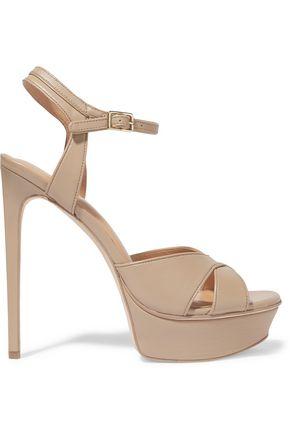 HALSTON HERITAGE Naomi leather platform sandals