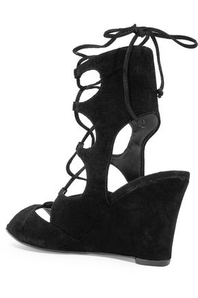 SCHUTZ Ruthie suede wedge sandals