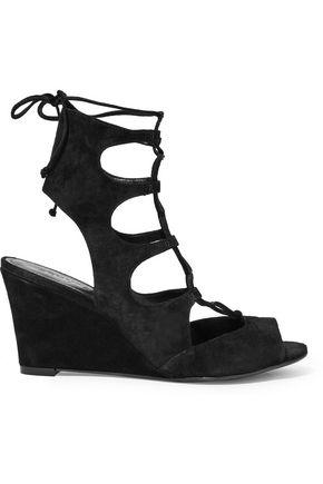 SCHUTZ Ruthie suede wedge sandals