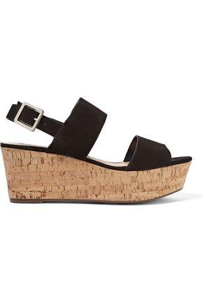 SCHUTZ Fanika suede platform sandals
