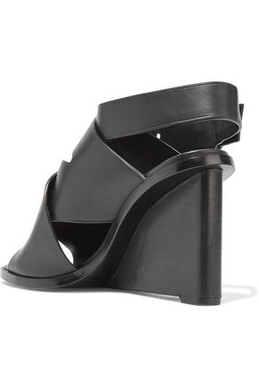 ALEXANDER WANG Elisa leather wedge sandals