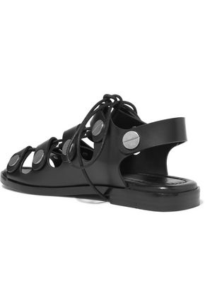 ALEXANDER WANG Patricia leather lace-up sandals