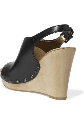 SAM EDELMAN Camilla leather wedge sandals
