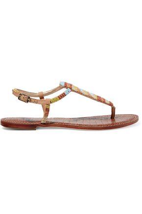 SAM EDELMAN Beaded canvas sandals