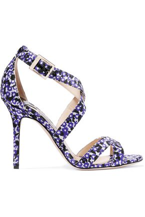 JIMMY CHOO LONDON Lottie floral-jacquard sandals