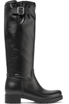 MM6 MAISON MARGIELA Coated-canvas and rubber rain boots
