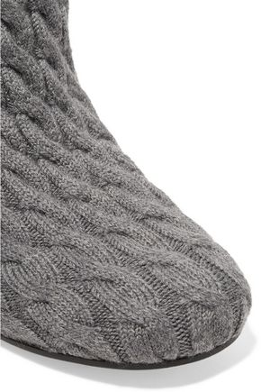 MAISON MARGIELA Cable-knit and leather ankle boots