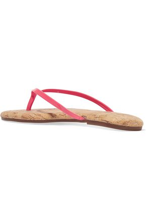 YOSI SAMRA Patent-leather and cork sandals