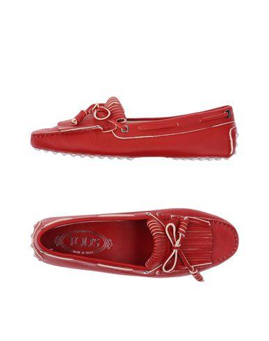 Фото - Женские мокасины  кирпично-красного цвета