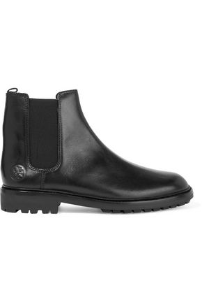 TORY BURCH Donn polished-leather ankle boots
