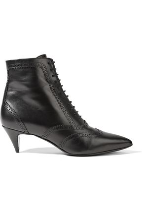 SAINT LAURENT Lace-up leather ankle boots