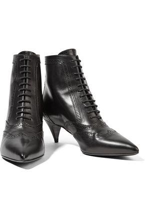 SAINT LAURENT Lace-up leather ankle boots