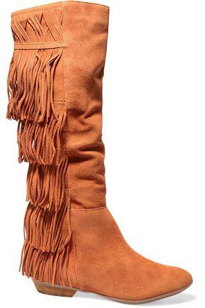 SCHUTZ Kamilia fringed suede knee boots