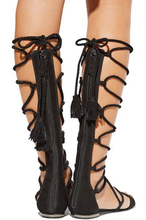 SCHUTZ Gloria lace-up suede sandals