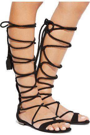 SCHUTZ Gloria lace-up suede sandals