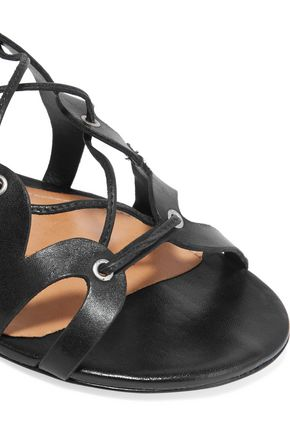 SCHUTZ Lace-up leather sandals