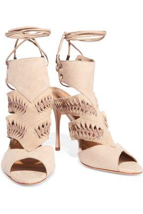 SCHUTZ Cutout suede sandals