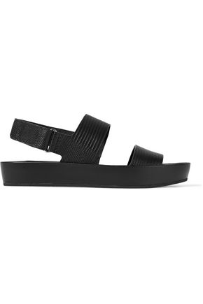 VINCE. Marett lizard-effect rubber sandals