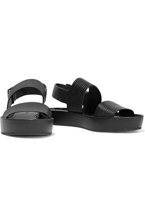 VINCE. Marett lizard-effect rubber sandals