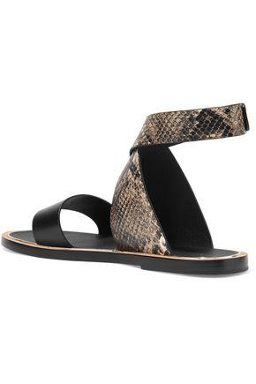 VINCE. Mailin snake-effect leather sandals