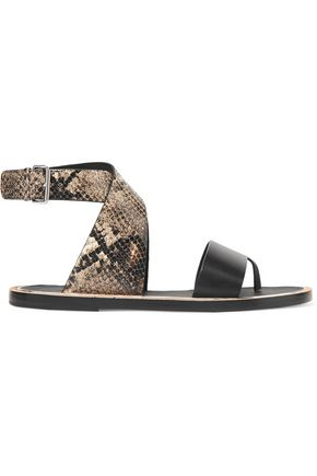 VINCE. Mailin snake-effect leather sandals