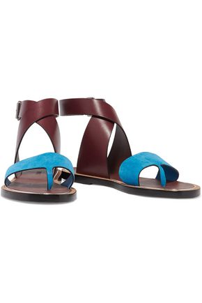 VINCE. Mailin suede and leather sandals