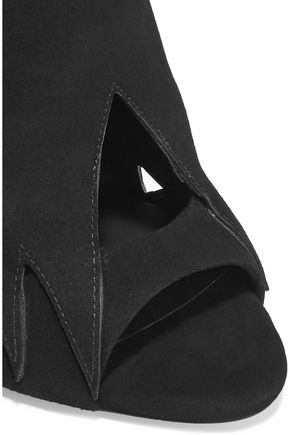 GIUSEPPE ZANOTTI DESIGN Cutout nubuck sandals