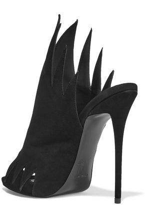 GIUSEPPE ZANOTTI Cutout nubuck sandals