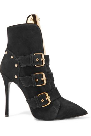 GIUSEPPE ZANOTTI DESIGN Embellished suede ankle boots