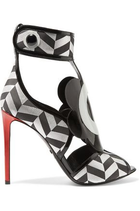 NICHOLAS KIRKWOOD Polly Petal Alvi jacquard and patent leather sandals