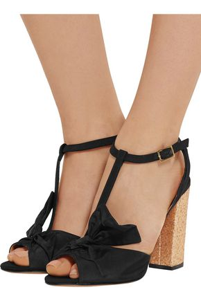 CHARLOTTE OLYMPIA Odelle bow-embellished faille sandals