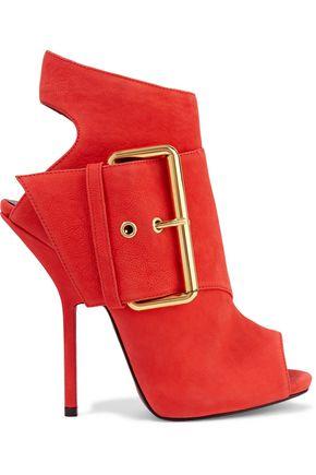GIUSEPPE ZANOTTI Buckled nubuck ankle boots