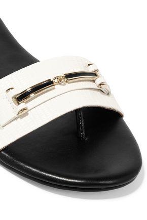 NEWBARK Roma lizard-effect leather sandals