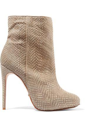 SCHUTZ Onara snake-effect calf hair ankle boots