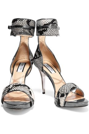 LUCY CHOI London Thesus snake-effect calf hair sandals