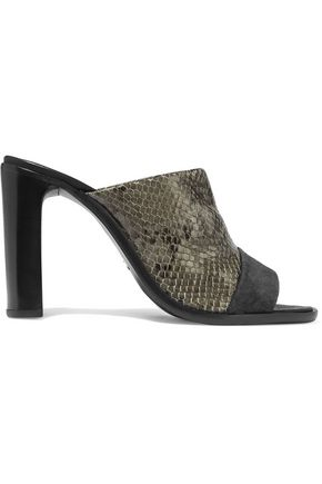 RAG & BONE Tristan snake-effect leather mules