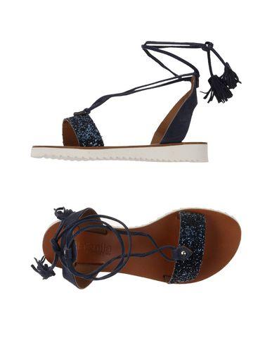 Фото - Женские сандали  темно-синего цвета