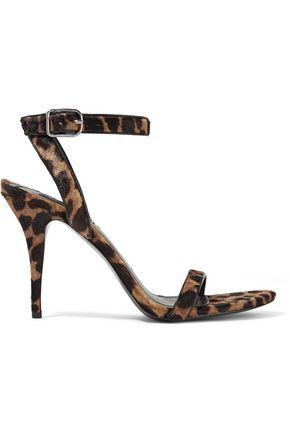 ALEXANDER WANG Atalya leopard-print calf hair sandals