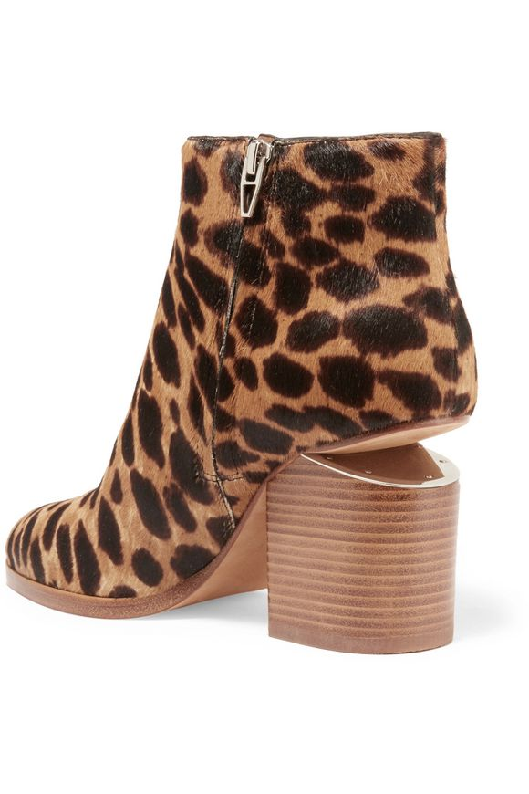 Gabi cutout leopard-print calf hair ankle boots | ALEXANDER WANG | Sale up  to 70% off | THE OUTNET