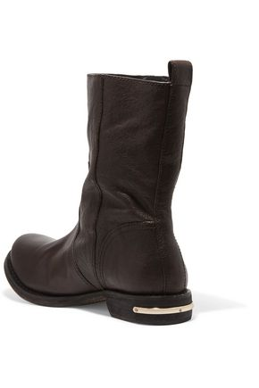 TORY BURCH Elyse textured-leather boots