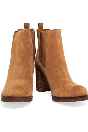 TORY BURCH Stafford suede ankle boots