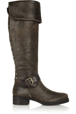 TORY BURCH Tarulli distressed leather knee boots
