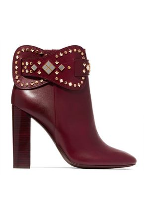 TORY BURCH Kingsbridge studded leather ankle boots