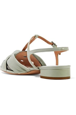 MAISON MARGIELA Metallic laser-cut patent-leather sandals