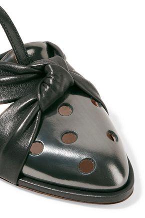 MAISON MARGIELA Metallic laser-cut patent-leather sandals