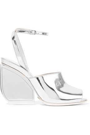 MAISON MARGIELA Mirrored-leather sandals