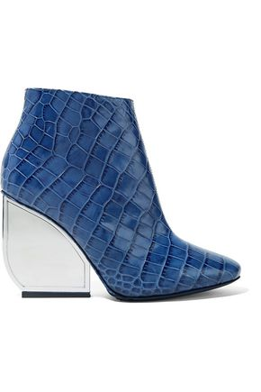 MAISON MARGIELA Croc-effect leather ankle boots