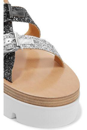 MM6 MAISON MARGIELA Glittered leather sandals