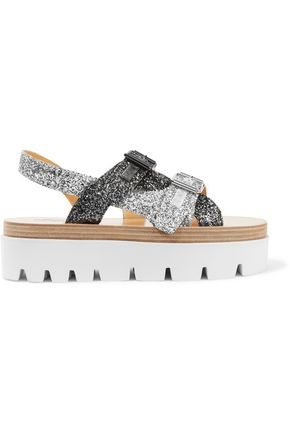 MM6 MAISON MARGIELA Glittered leather sandals